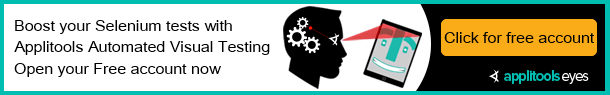 Boost your Selenium tests with Automated Visual Testing - Open your FREE account now.