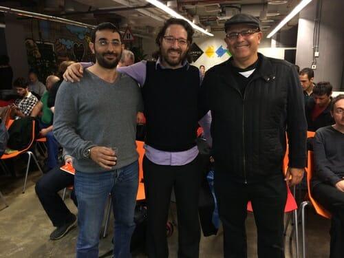 Daniel Puterman, Oren Rubin and Gil Sever at SeTLV Meetup