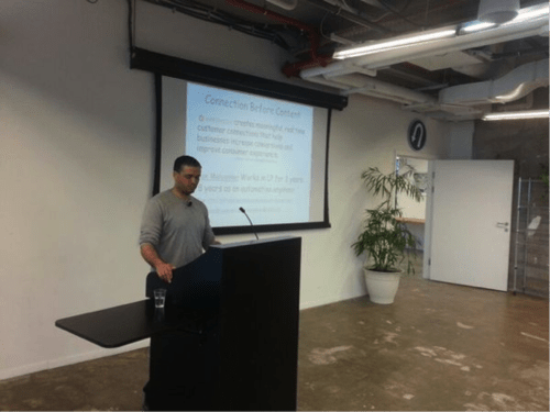 Ilan Malyanker from LivePerson at SeTLV Meetup