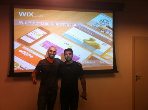 Ilan Tal and Roi Ashkenazi from Wix's Automation Team at SeTLV Meetup