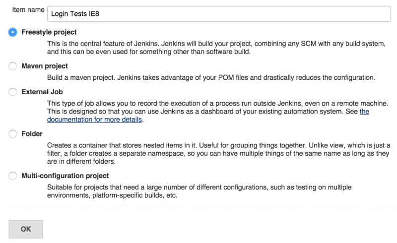 Jenkins CI - create a job