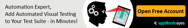 Automation Expert - You should be automating your visual testing!