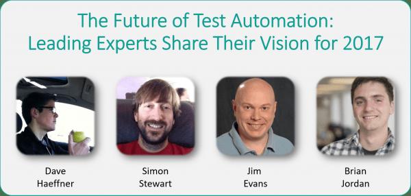 Selenium Gurus Panel: Dave, Simon, Jim, and Brian