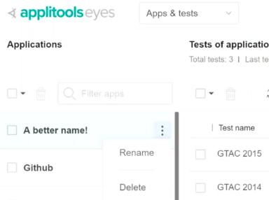 Applitools Batch Renaming