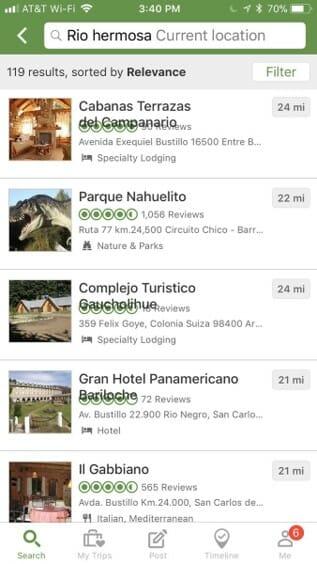 Visual Bug on TripAdvisor App