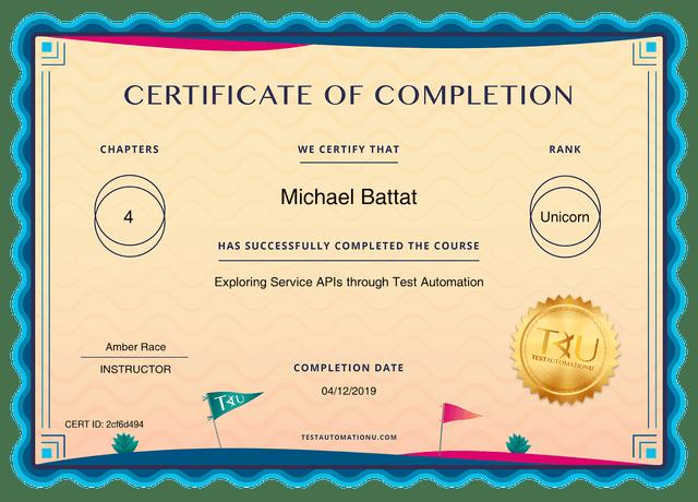 certificates TAU 2cf6d494