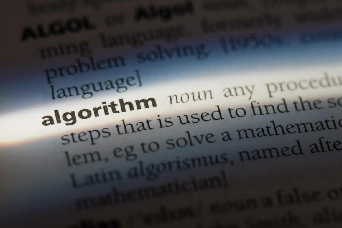 Canva Algorithm word in a dictionary. CanvaEdited