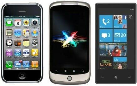 iPhoneOS4vsAndroid2.2vsWindowsPhone7