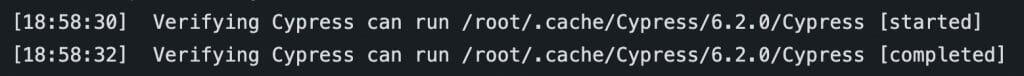 Cypress cache verification