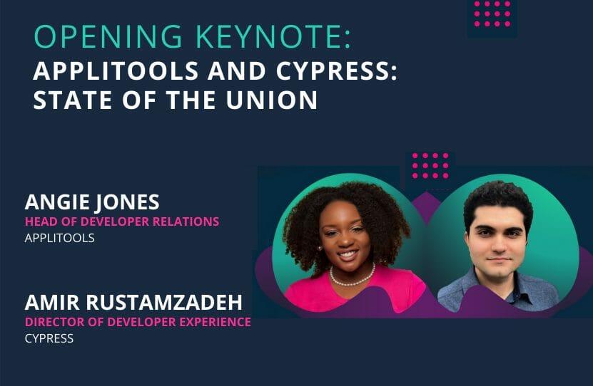 Angie Jones and Amir Rustamzadeh
