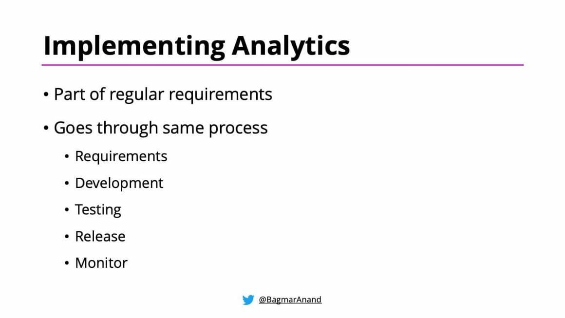 How to implement Analytics in your product?