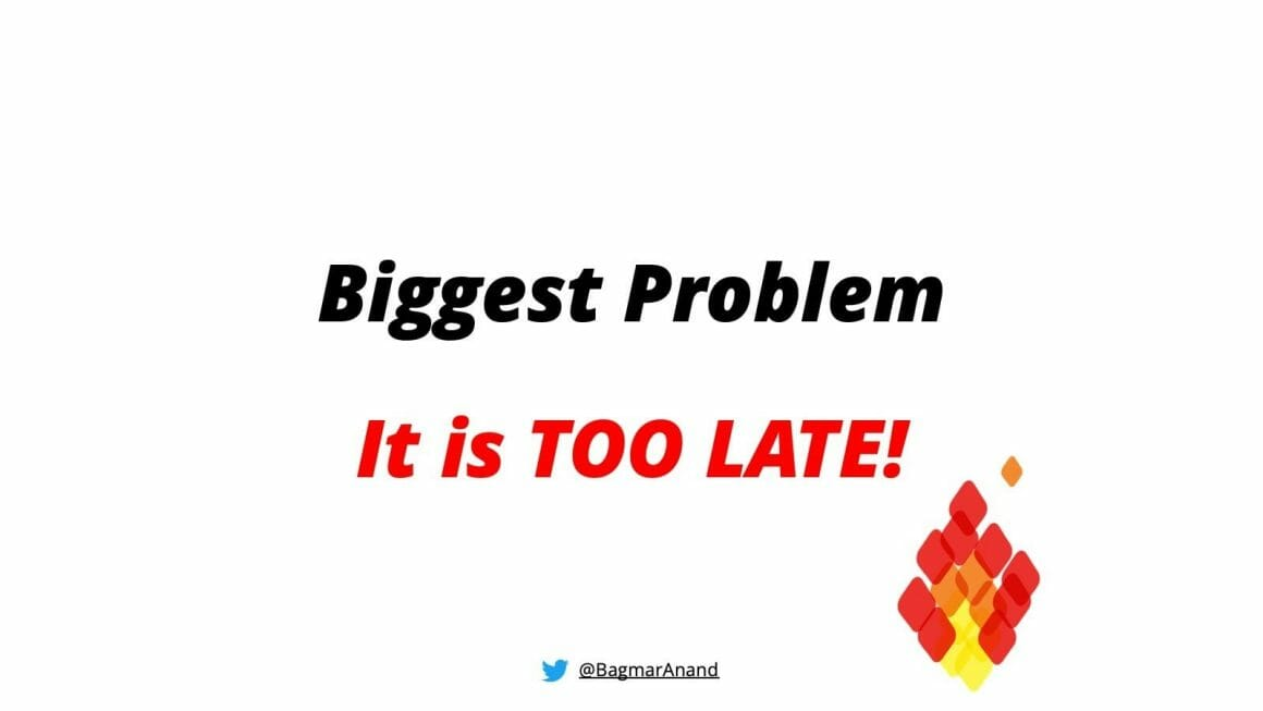 The biggest problem with testing the end report is that it's too late!