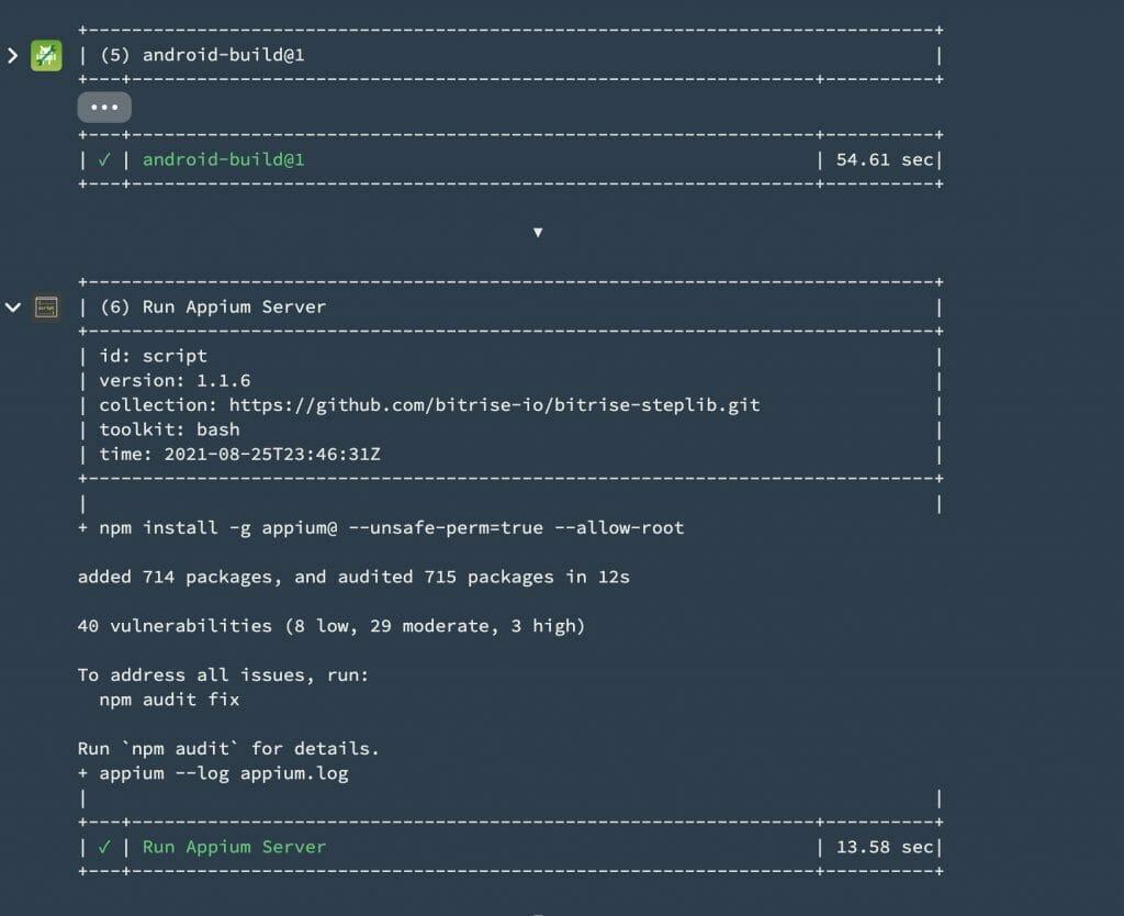 install and run Appium server