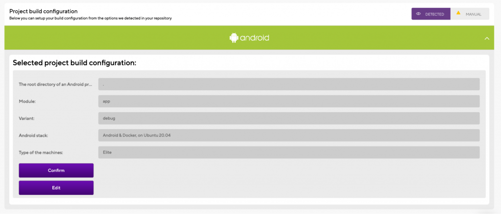 Validating the Android Project